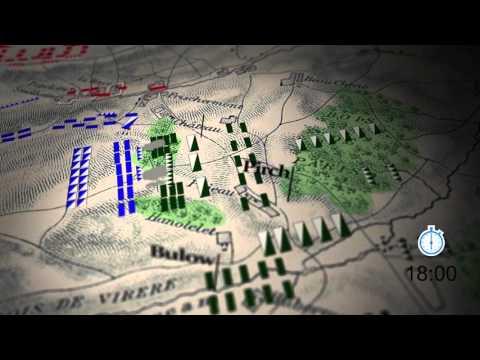 Bataille de Waterloo - animation carte