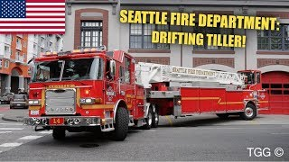 *Tiller Drift* [Seattle] Fire Department *NEW* Ladder 4 Responding