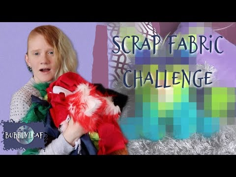 Scrap Fabric Art Challenge 2 || ArtDoll Tutorial