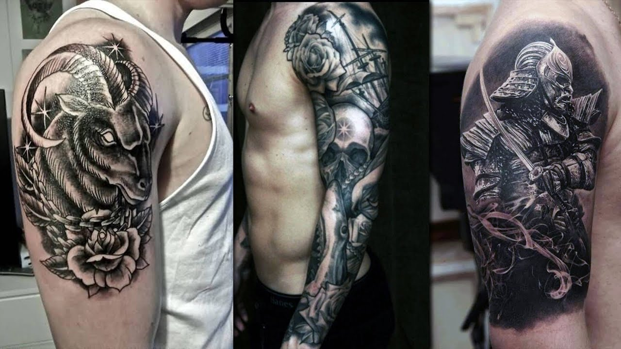 Unique Upper Arm Sleeve Arm Tattoo Design Models For Men And Ladies