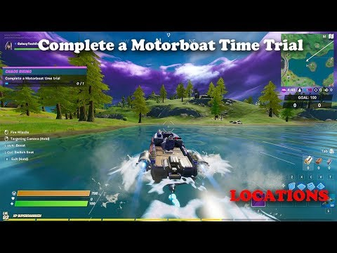 Fortnite - Complete A Motorboat Time Trial - LOCATIONS