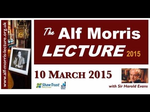 Alf Morris Lecture 10 03 2015