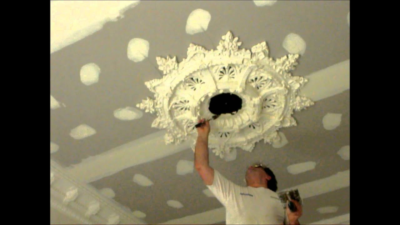 Plastering Large Ceiling Rose Installation Hawthorn Plaster Repairs