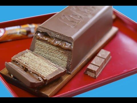 GIANT Caramel KitKat CHUNKY Candy Bar! Huge Kit Kat Chocolate Bar Recipe | My Cupcake Addiction