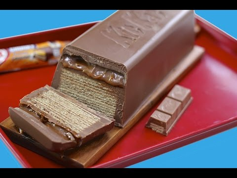 GIANT Caramel KitKat CHUNKY Candy Bar! Huge Kit Kat Chocolate Bar Recipe | My Cupcake Addiction