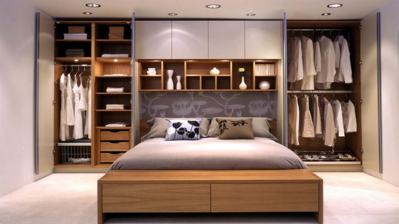 11 Overbed cupboards - modern small bedroom wardrobe design ideas 11