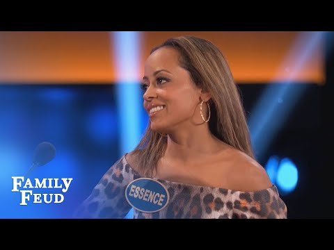 Get your NOSE out of THERE!  Celebrity Family Feud  OUTTAKE
