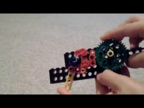 Lego gun mechanism/reciprocating motion