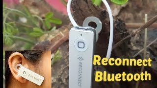 Two in one Budget Bluetooth Headset RS 400 Reconnect