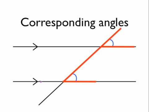 Angles in parallel lines corresponding angles