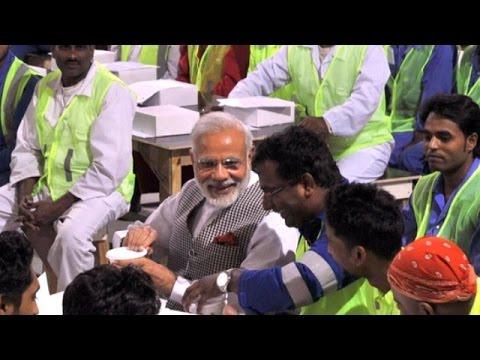 PM Modi Surprises Indian Laborers in Qatar | PM Modi's Qatar Visit