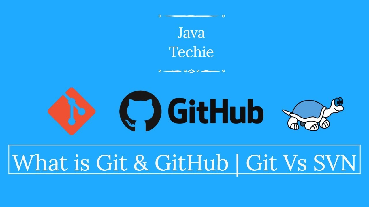 What is Git and GitHub | Difference between Git and SVN (Part-1) | Java  Techie