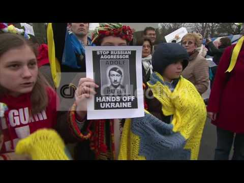 DC:PRO-UKRAINE PROTEST OUTSIDE RUSSIAN EMBASSY
