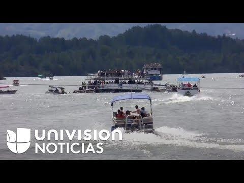 Hablan los sobrevivientes del naufragio de un barco en una represa colombiana
