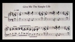 Oscar Peterson - Give me the simple Life (transcription)