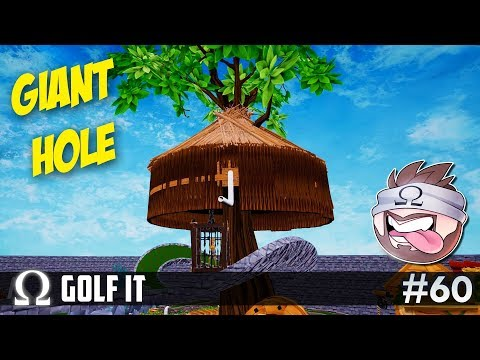 ONE GIANT HOLE COURSE! (and it's HUGE!) | Golf It Funny Moments #60