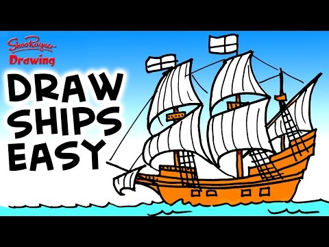 How to draw the Mayflower Easy step-by-step for Beginners