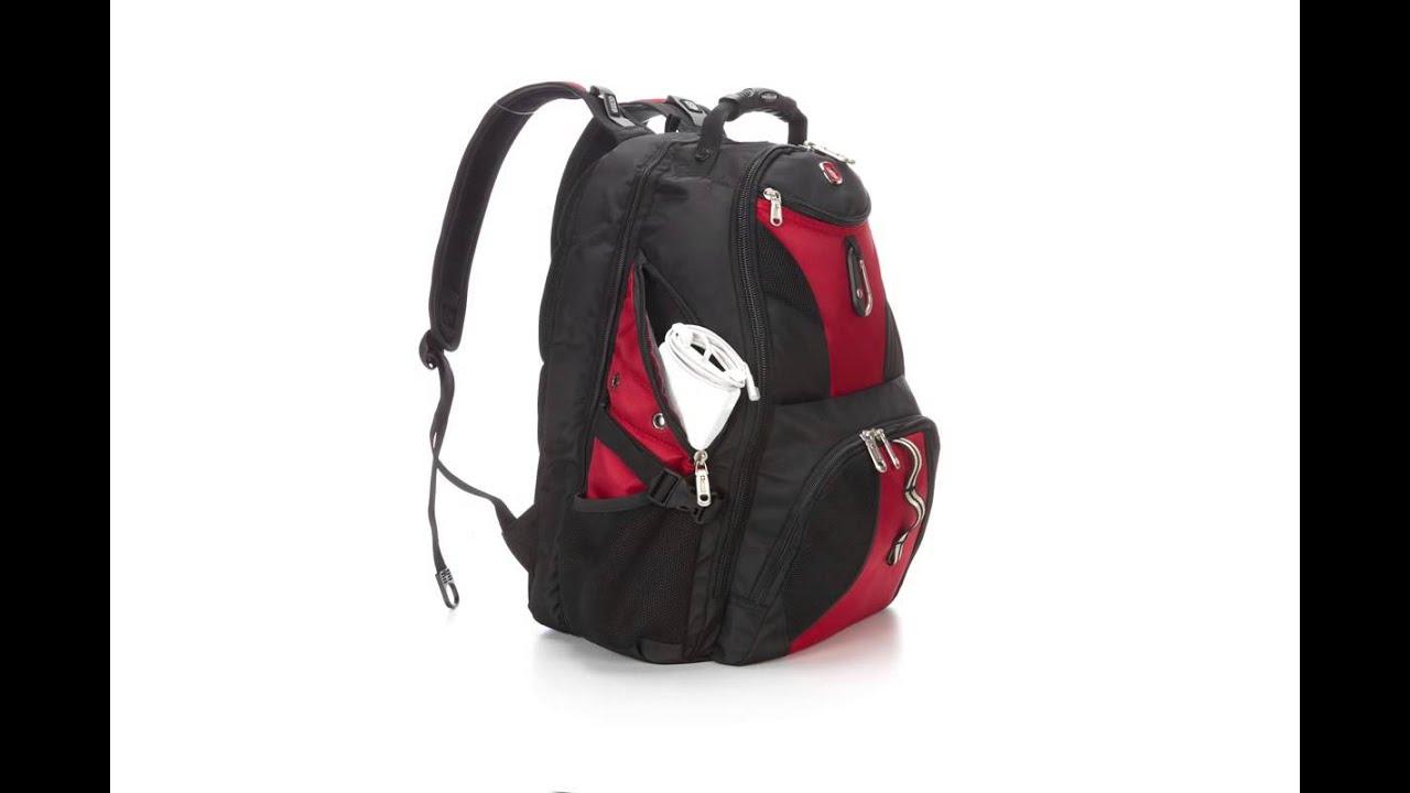SwissGear Travel Gear ScanSmart 1900 Laptop Backpack - YouTube