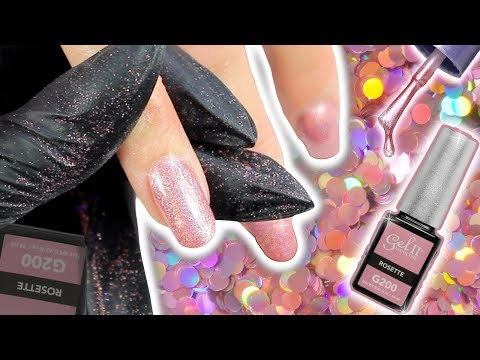 HOW TO APPLY GEL NAIL POLISH & HOLO PINK LOOSE GLITTER