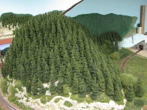 Pine Tree Scenery scratch build Tutorial