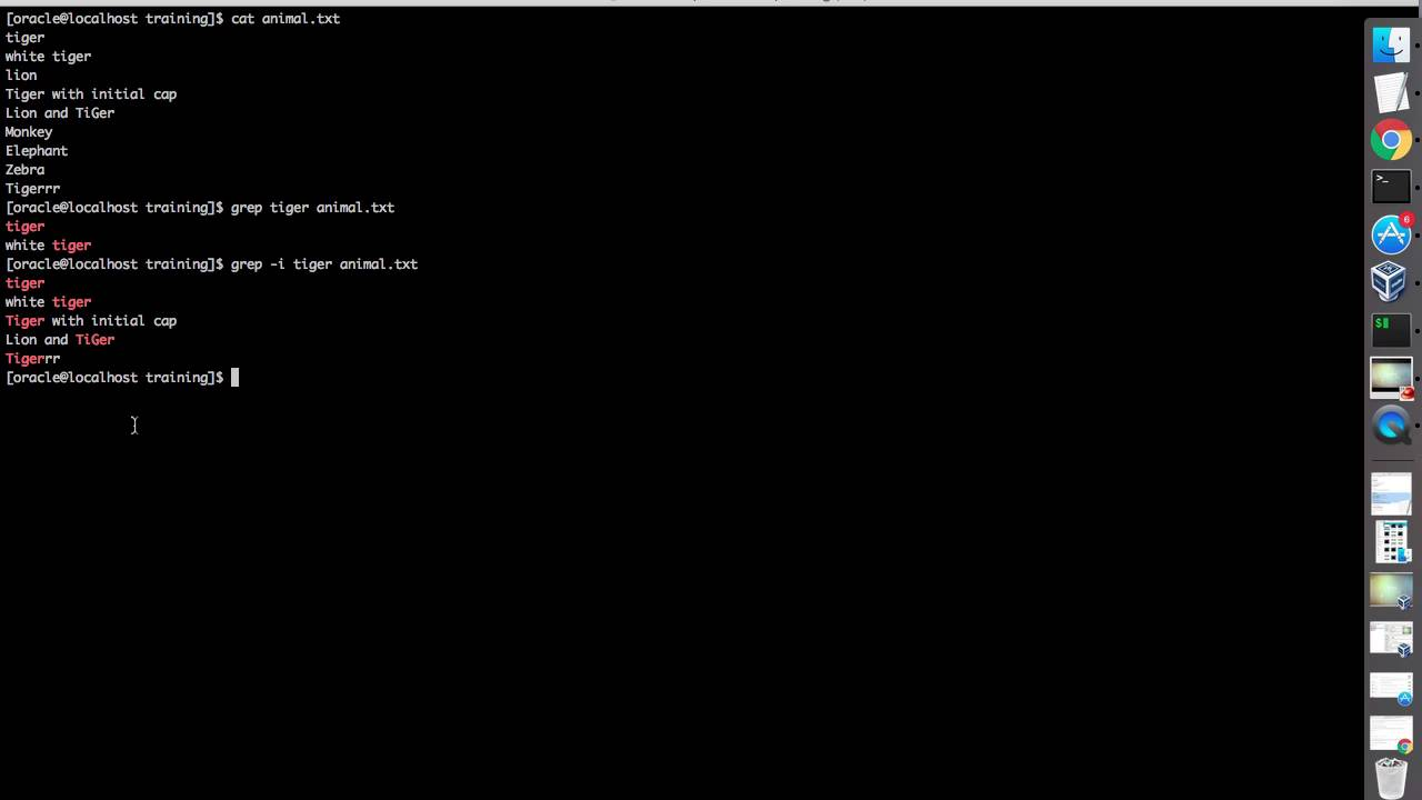 Linux Grep Command With C I W V N Options And Examples Youtube