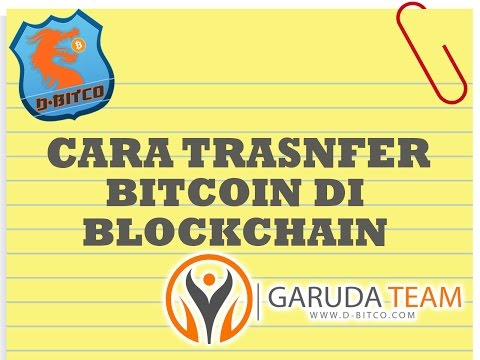 CARA TRANSFER BITCOIN DI BLOCKCHAIN || by GRAUDA TEAM D-BITCO