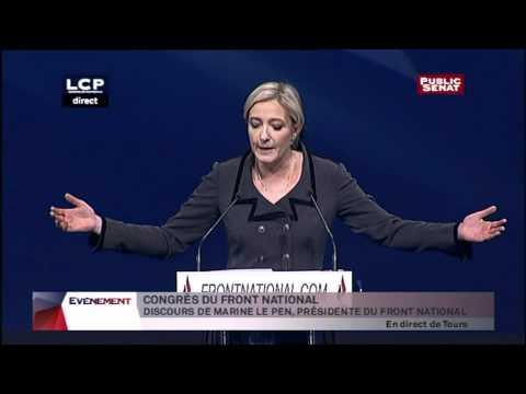 Discours de Marine Le Pen lors de son intronisation au congrès de Tours