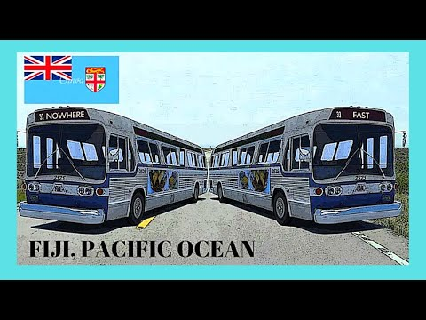 FIJI, the beautiful, colorful (and ancient) BUSES of NADI (Pacific Ocean)