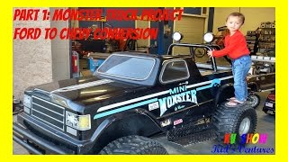 Part 1: Mini Monster Truck Project! Ford To Chevy Conversion