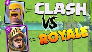 Clash Royale VS Coc DECK Challenge... SO FUN! Feat. ClashOnGan!
