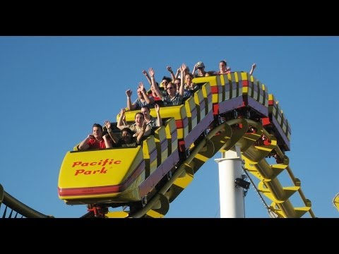 Santa Monica West Coaster Roller Coaster Back Seat POV Most Filmed Ride in the World