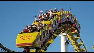 Santa Monica West Coaster Roller Coaster Back Seat POV Most Filmed Ride in the World