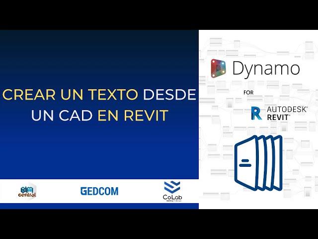 Crear textos desde CAD en Revit con Dynamo | Demostración