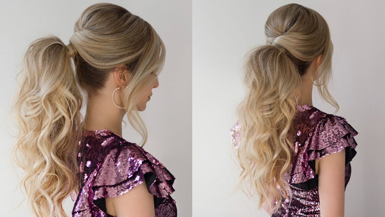 How To Curly Ponytail New Years Eve Hairstyle