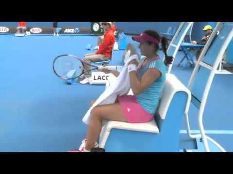 ANZ Kid's Tennis Day, Exhibition Match - Sharapova vs Vesnina Australian Open Qualifying 2012: Day 4