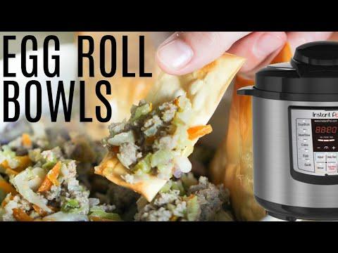 INSTANT POT Egg Roll Bowls AND Egg Rolls)