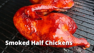 Smoked Half Chicken | Recipe for BBQ Chicken Halves on the Big Green Egg