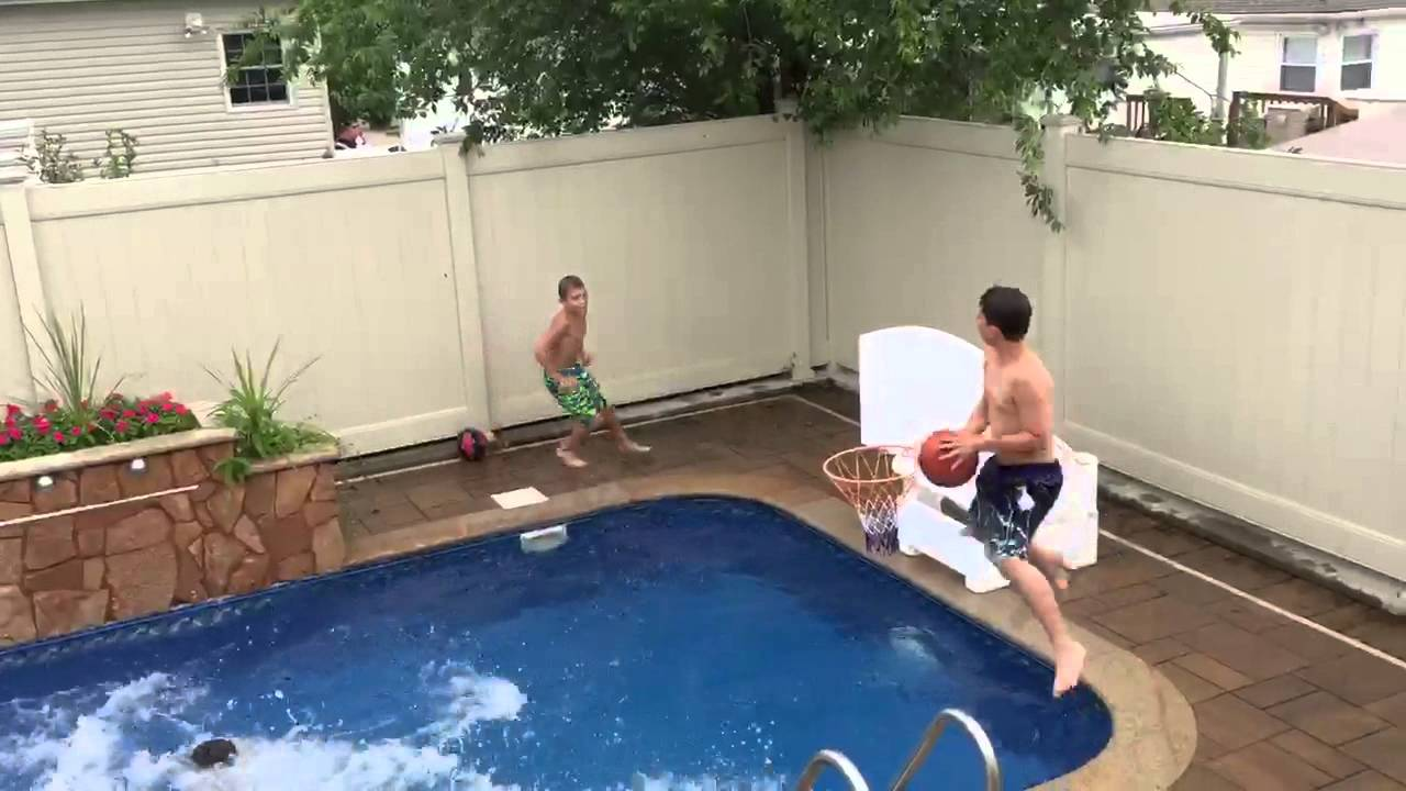 Awesome pool hoops trick shot youtube - Awesome swimming pool trick shots ...
