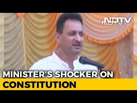 """We're Here To Change Constitution,"" says Union Minister Hegde"