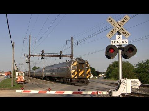 Amtrak Trains Speeding Through Irishtown Road Crossing