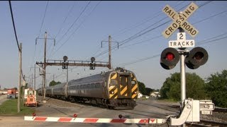 Amtrak Trains Speeding Through Irishtown Road Crossing