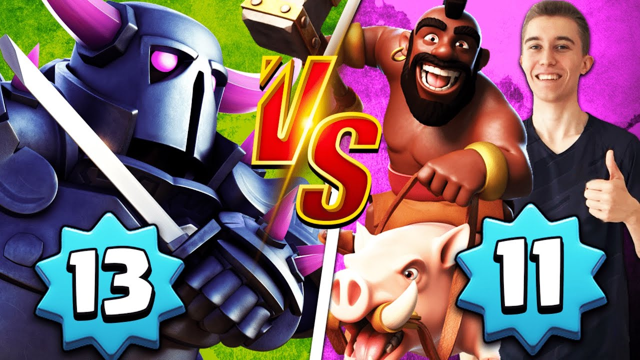 DESTROYING LEVEL 13's with LEVEL 11 CARDS! 2.6 HOG CYCLE DECK — Clash Royale