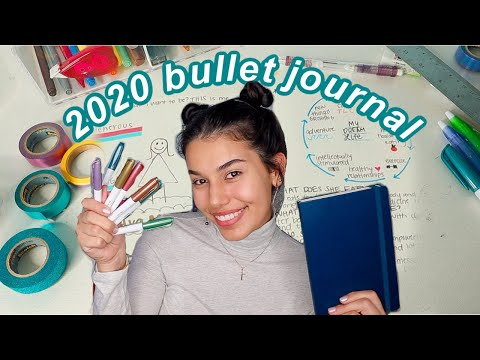 2020 BULLET JOURNAL plan with me - for beginners ☆