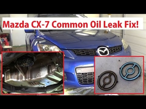 mazda cx 7 common oil leak fix oil filter housing cooler rh youtube com