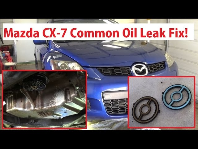 Mazda Cx 7 Common Oil Leak Fix Oil Filter Housing Cooler Replacement Mazda Cx7 Mazda 5 Speed