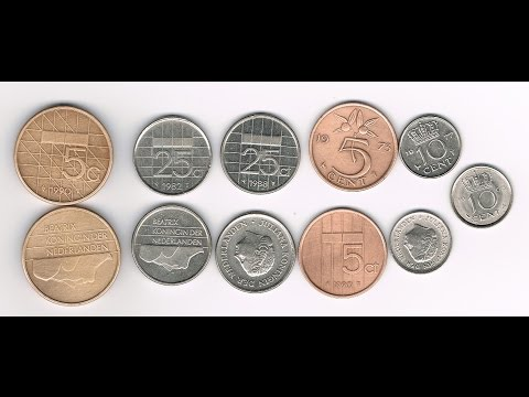 My Dutch guilders and cents coins from The Netherlands, also called Holland (coin video)
