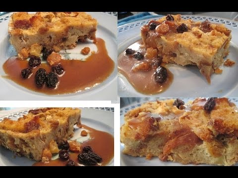 Bread Pudding Recipe With Raisins, Apples And Honey! A Delicious Bread Pudding Dessert Recipe!