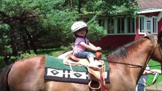 Toddlers First Time Riding Alone!