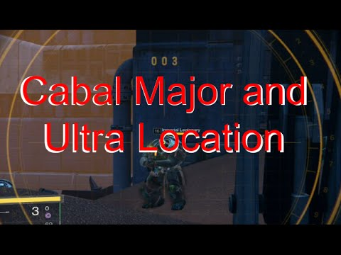 Destiny: Cabal Major and Ultra Location
