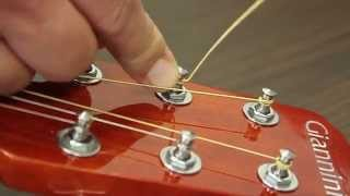 How to change the strings - Giannini Dreadnought Guitar
